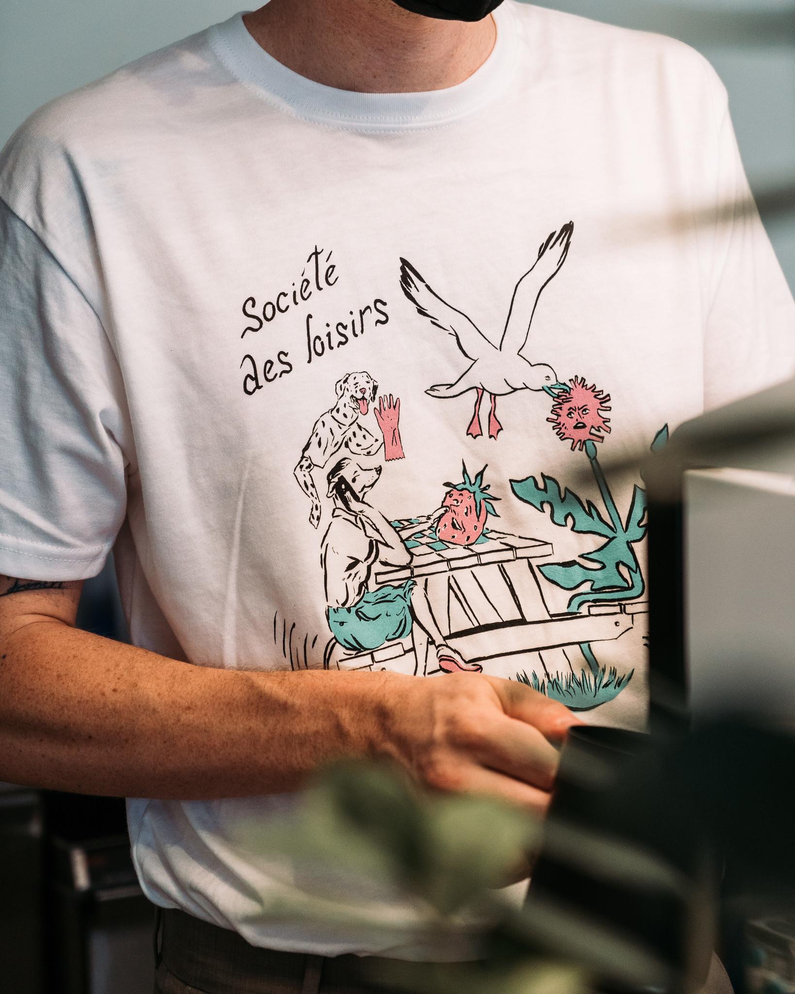 T-shirt SDL blanc - par Kaël Mercader-1