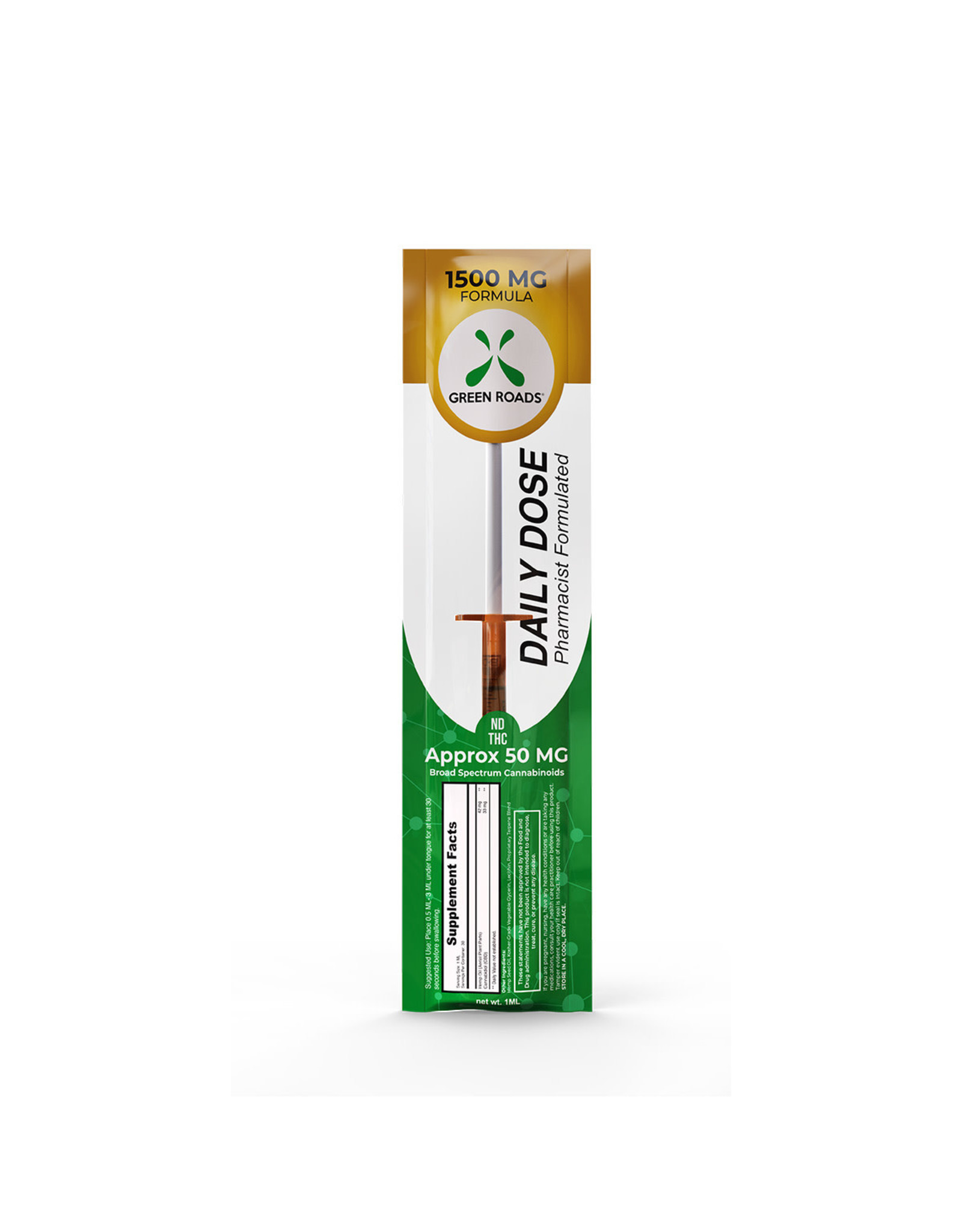 Green Roads 1500 MG Formula Daily Dose Syringe