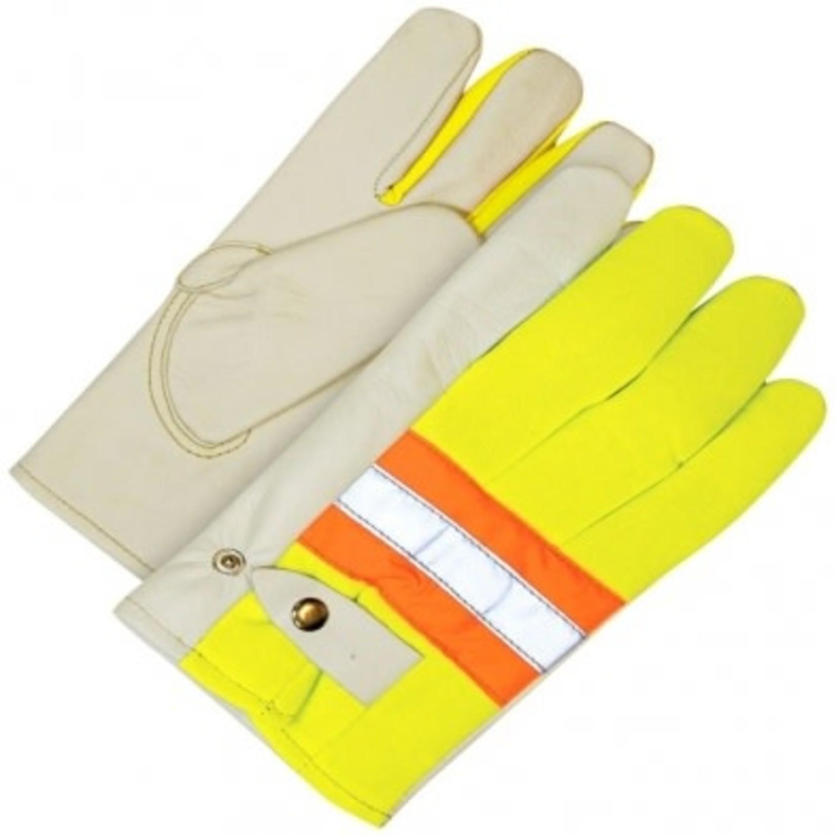 Bob dale gloves Hi-Vis Cowhide Leather Glove