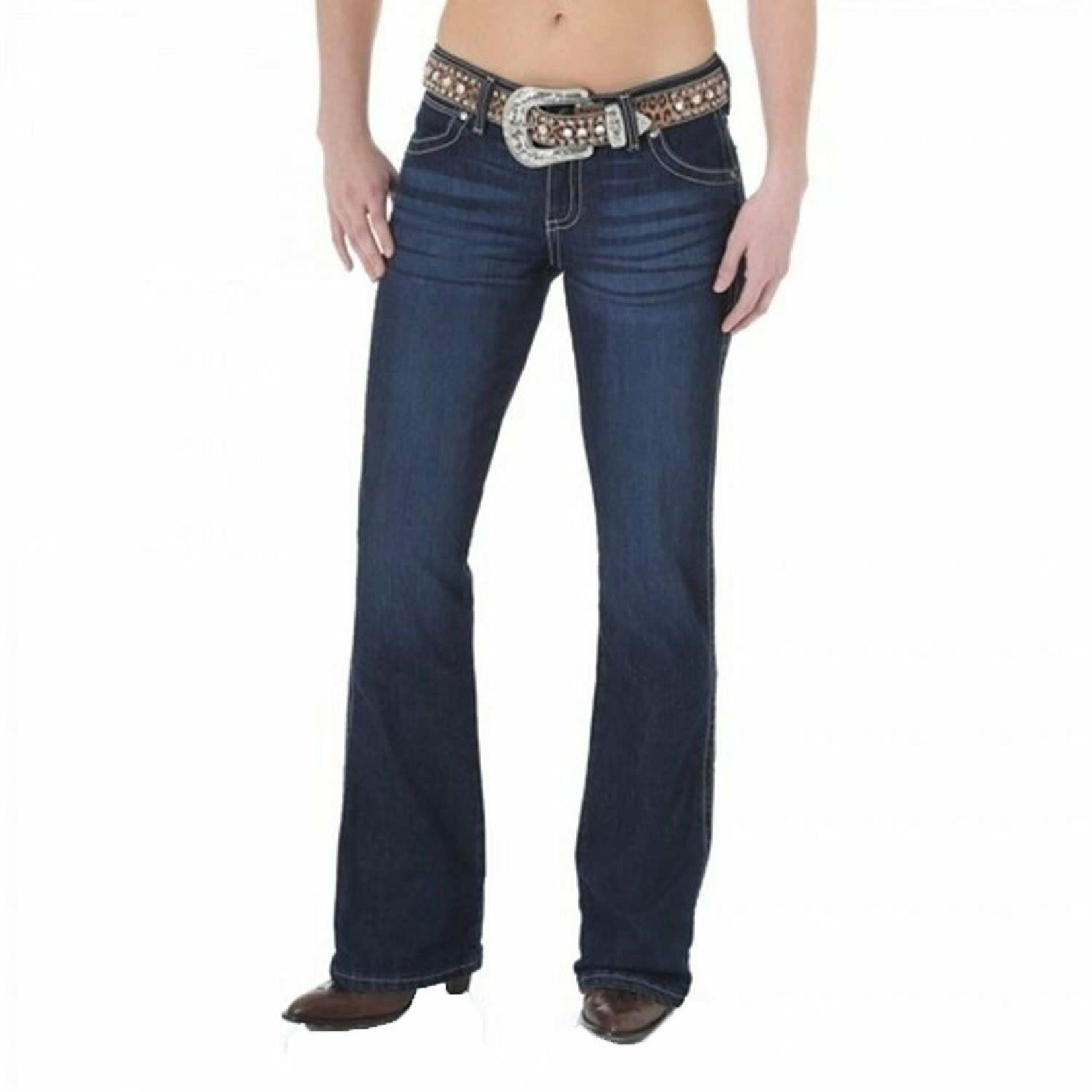 Wrangler Mae Boot Cut Low Rise Premium Patch Jeans 09MWZMR