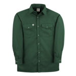 Big Bill Premium Long-Sleeve Snap Front Work Shirt Green