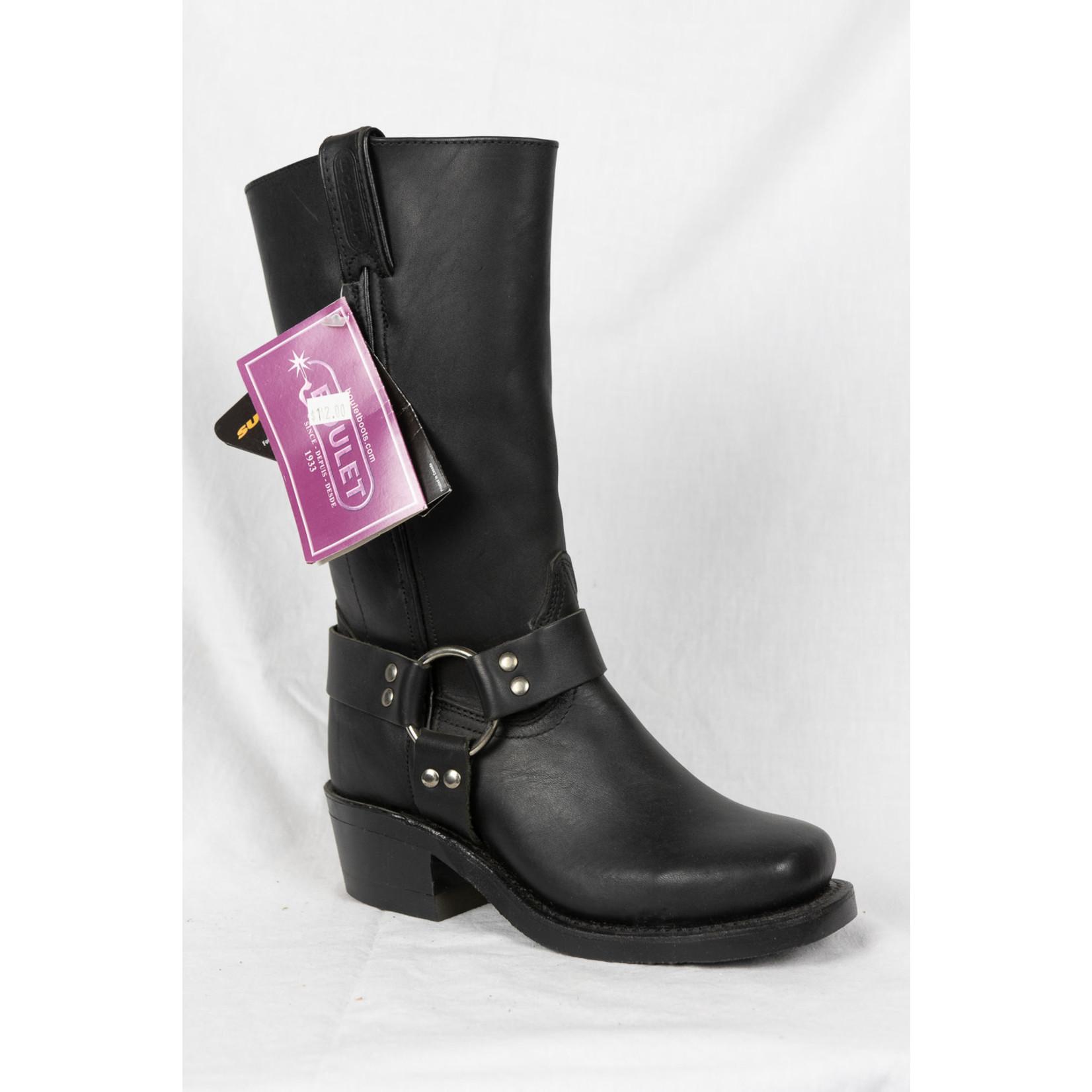 Boulet Boulet Women's Black Leather Biker Boot 2064 Width C