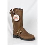Canada West Canada West Women's Brown Leather Biker Boots 3057 Width D