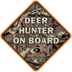 """Mossy Oak Graphics Deer Hunter On Board 5"""" Sticker"""