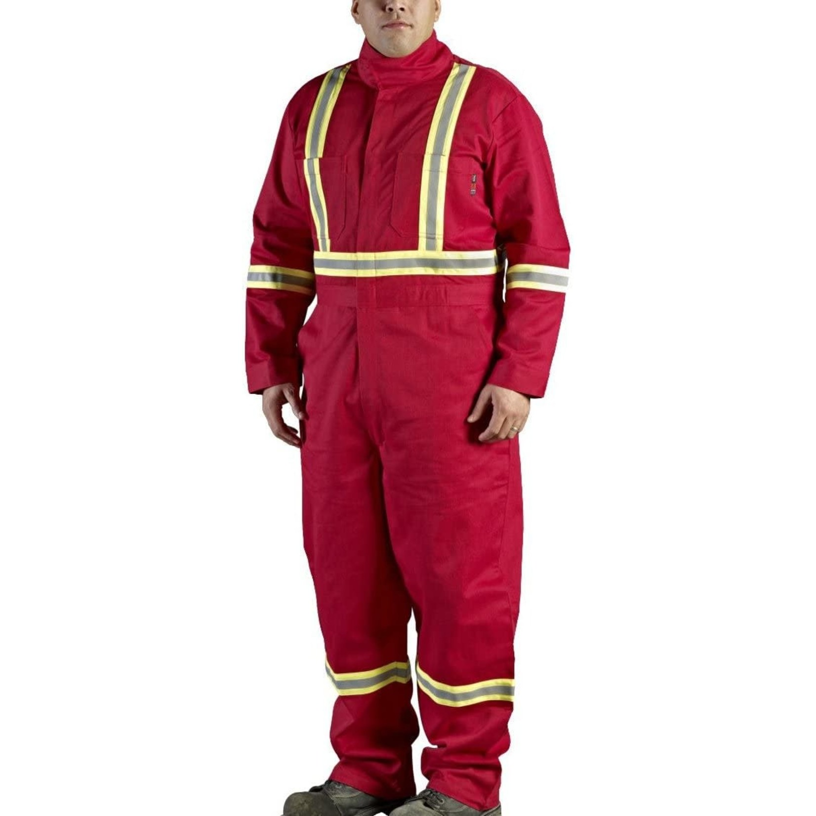 Walls FR Walls Red 9-Ounce FR 88/12 Striped Coverall
