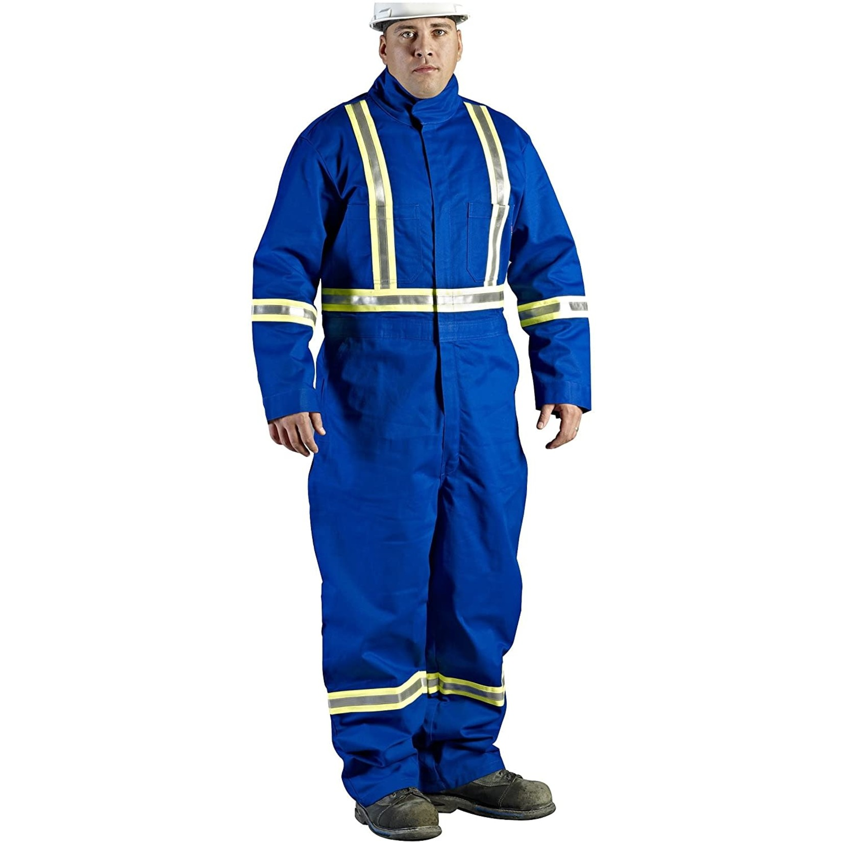 Walls FR Walls Royal Blue 9-Ounce FR 88/12 Striped Coverall