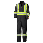 Pioneer Pioneer® Flame Resistant Black Cotton Safety Coverall