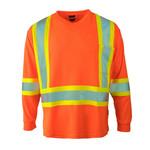 Forcefield Forcefield Hi Vis Long Sleeve Safety Tee Orange