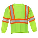 Forcefield Forcefield Crew-Neck Long Sleeve T-Shirts Hi-Vis Yellow