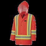 Pioneer Pioneer 5892 Flame Resistant PU Stretch Hi-Viz Rain Jacket Orange