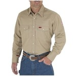 Wrangler Wrangler FR12140 Khaki Men's Flame-Resistant Work Shirt