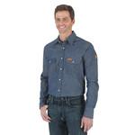 Wrangler Wrangler FR Snap Denim Work Shirt - FR12127 Small