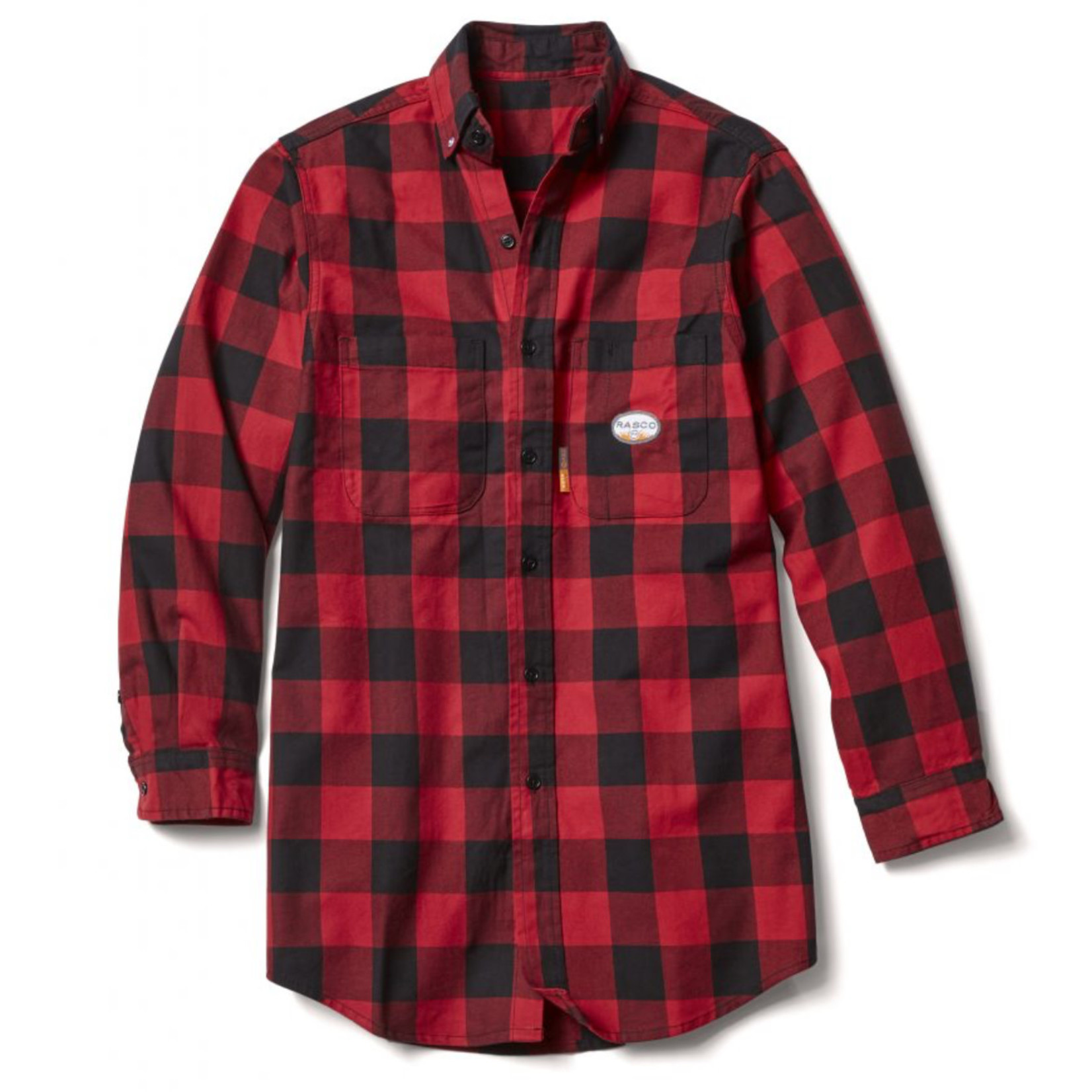 Rasco Rasco FR0824RD/BK Red & Blue Buffalo Plaid FR 7.7 oz Button Up Shirt