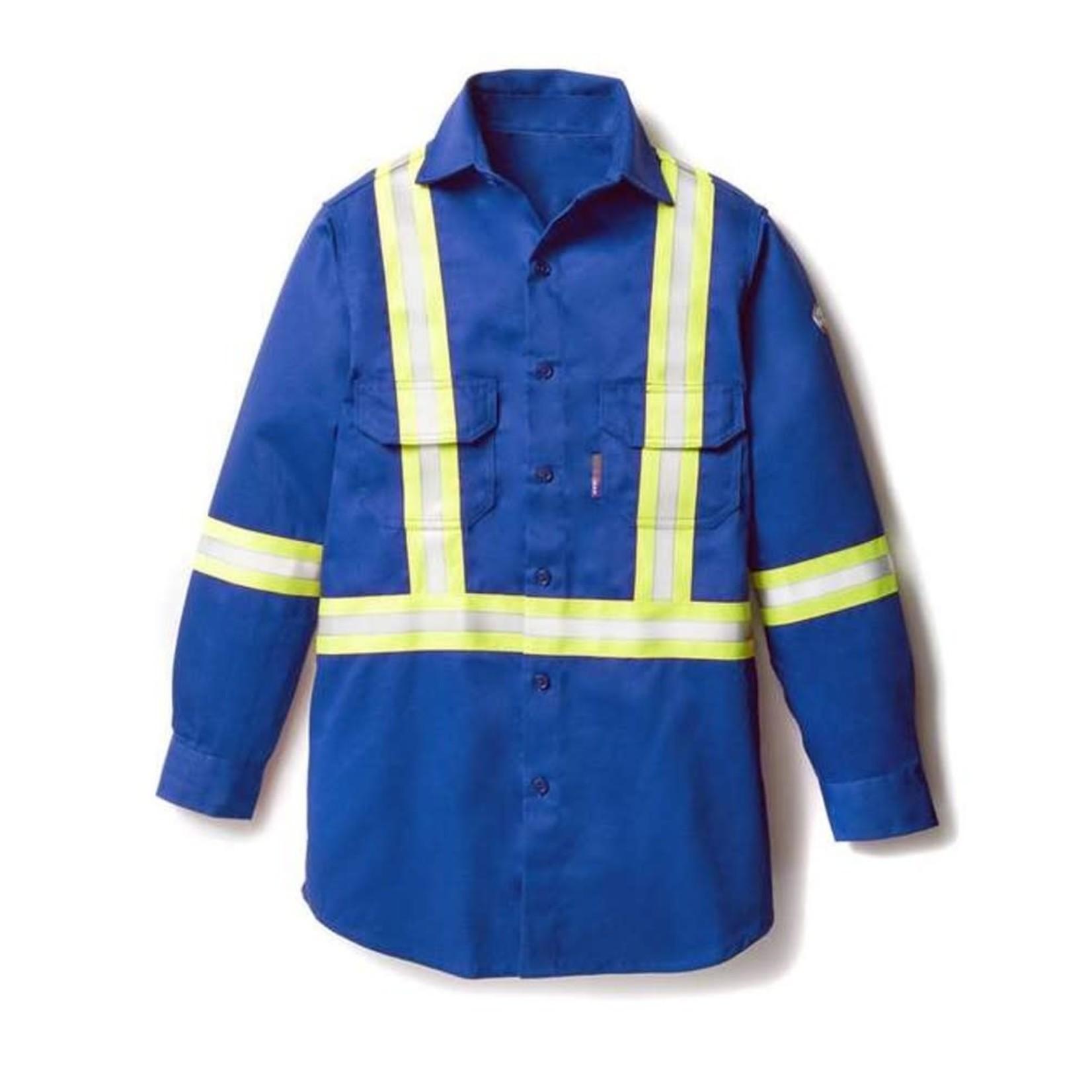 Rasco Rasco FR1403 FR Uniform Shirt With Reflective Trim Blue