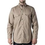 Walls FR Walls FRO56390J Adult's FR LS Button Down Work Shirt Khaki