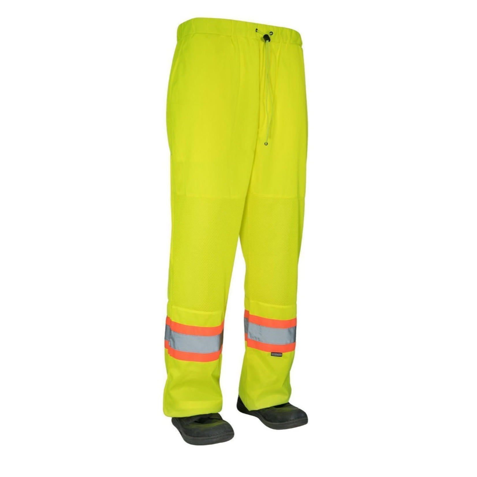 Forcefield Hi Vis Safety Tricot Traffic Pants with Vented Legs and Elastic Waist