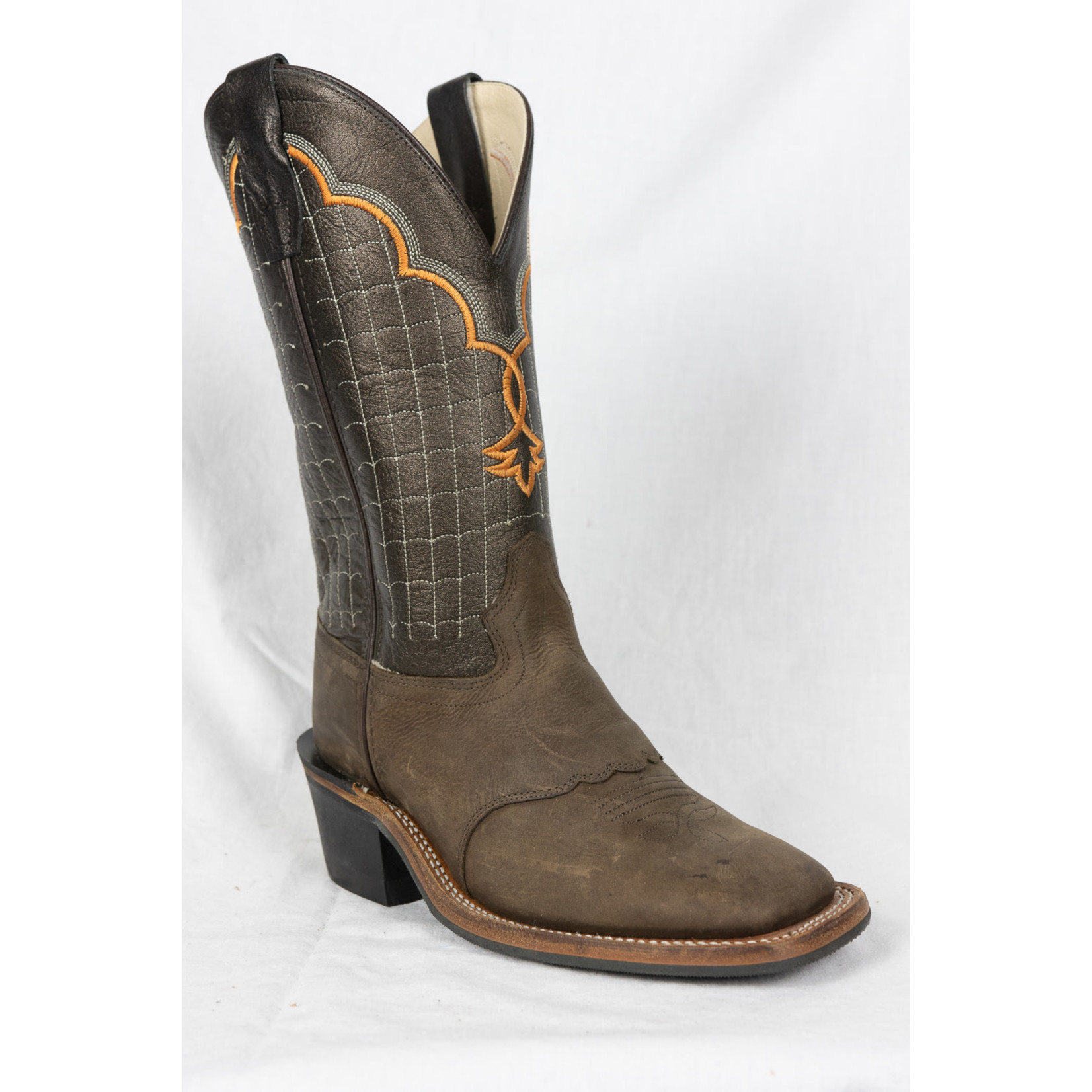 Old west Old WestYouth  Brown Square Toe Cowboy Boot BSY1865 4
