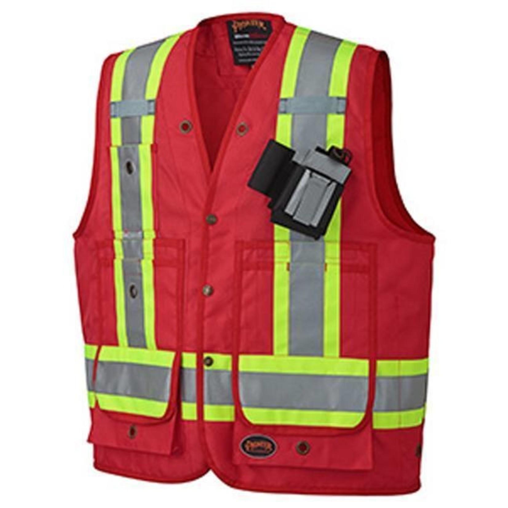 Pioneer Pioneer 693 V1010510 CSA Surveyor's / Supervisor's Vest – Red