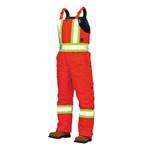 Work King Work King Lined Safety Canvas Overall Bib  Hi Vis Orange