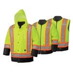 Pioneer Pioneer Hi-Vis 6-In-1 Waterproof Winter Work Parka | Yellow |
