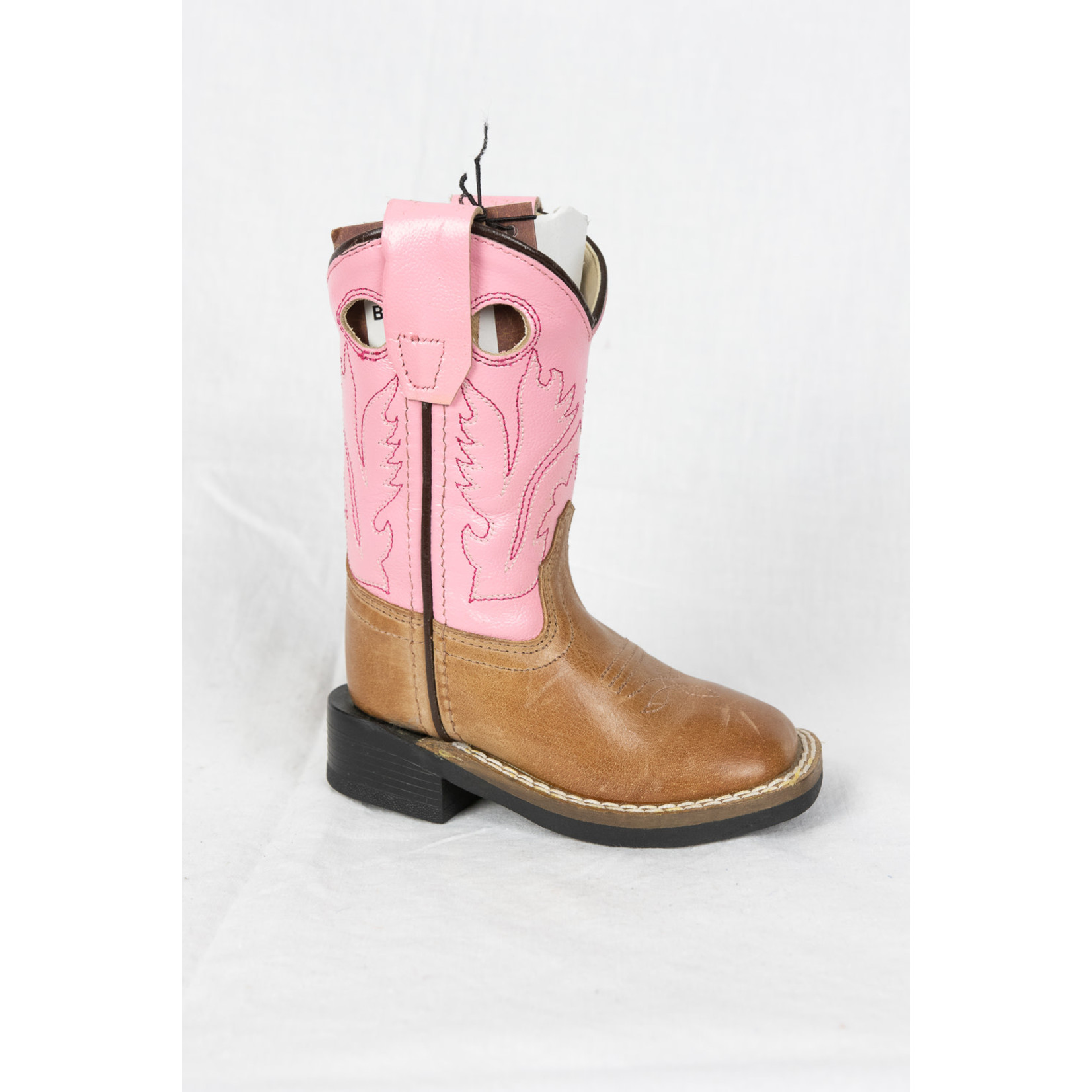 Old west Old West Brown Pink Kids Cowboy Boot CW2539