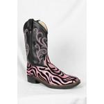 Old west Old West Children Black Pink Striped Cowboy Boot VB1029