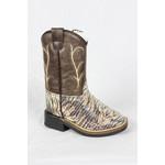 Old west Old West Children Brown Zip Cowboy Boot VB1017