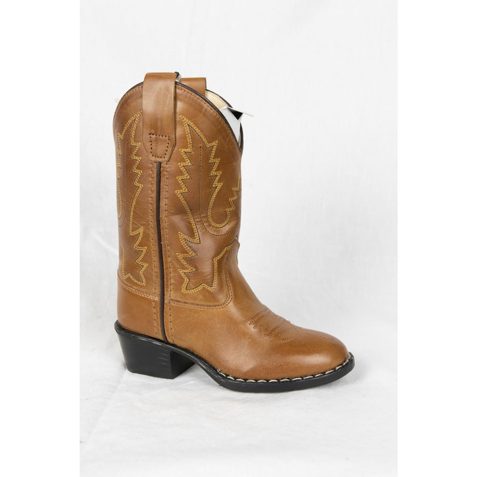 Old west Old West Children Brown Cowboy Boot 1129