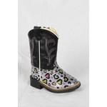 Old west Old West Black Silver Children Cowboy Boot VB1023