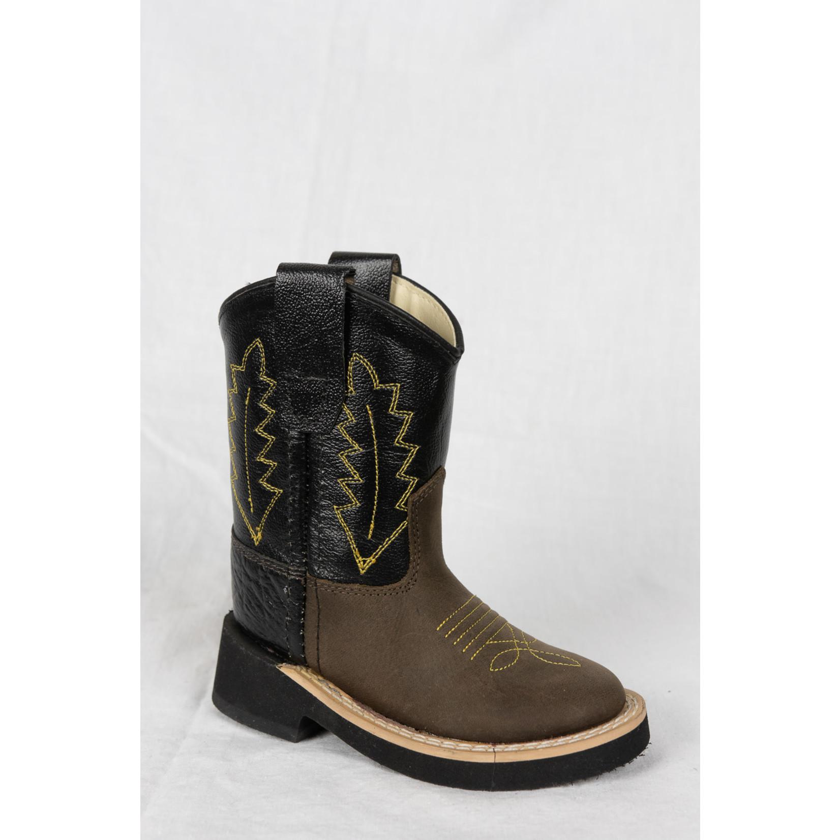 Old west Old West Children Brown/ Black Cowboy Boot 1606I