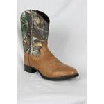 Old west Old West Brown Camo Cowboy Boot 1916Y 7