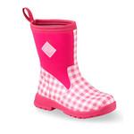 Muck Muck Kids Summer Boot Breezy Mid Pink Gingham BMK-4GHM