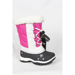 Baffin Baffin Children's Boots Ava White and Fuchsia -40 SNFL-C018