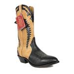 Boulet Boulet Black Brown Cowboy Boot 1869