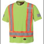 Pioneer Pioneer Hi-Vis Cotton Safety T-Shirt Short Sleeve Yellow/Green 6980 V1050560