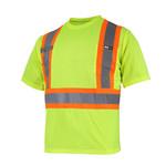 Ganka T-Shirt Short Sleeve 10/4 JOB Quick Dry Reflect Stripe 25-400-J/Y XS