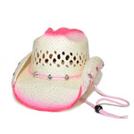 Pink Bling Straw CowboyHat