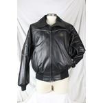 Bristol Men's Leather Black Biker Jacket Bomber 3093