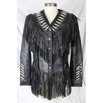 Sofari Leather Bones Fringed Jacket LJ-1742-01