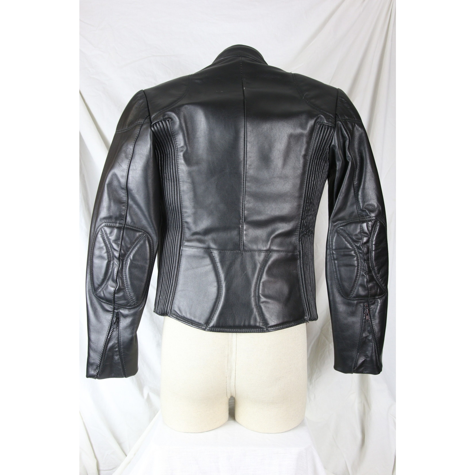 Bristol Men's Leather Black Biker Jacket Right Side Zip 1044