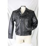 Cruise by Safari Men's Black Leather Biker Jacket Vintage Style with Braid Detailing