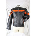 Safari Collections Mens Straight Collar Jacket Black with Orange Details with Zip-Out Liner