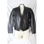 Cruiser by Sofari Men's Multiple Zipper Biker Jacket Leather Black Zip-Out Liner