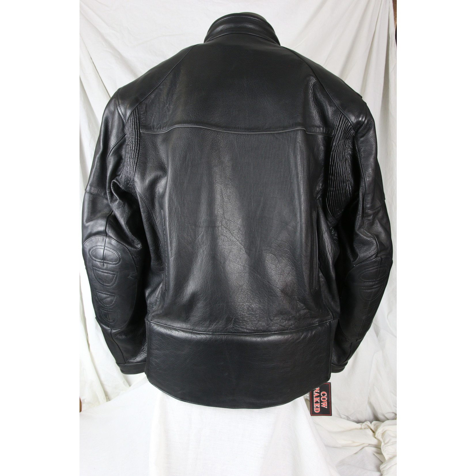 Cruiser by Sofari Men's Built-In Removable Armour Zip-Out Liner Reflective Strip Black Leather
