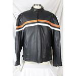 Cruiser by Sofari Reversible Men's Black Leather Biker Jacket