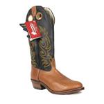 Boulet Boulet Men's Cowboy Boot Hillbilly Golden Shoe Black Shaft Round Toe Western Heel Leather Sole 2171 D - SIZE 10