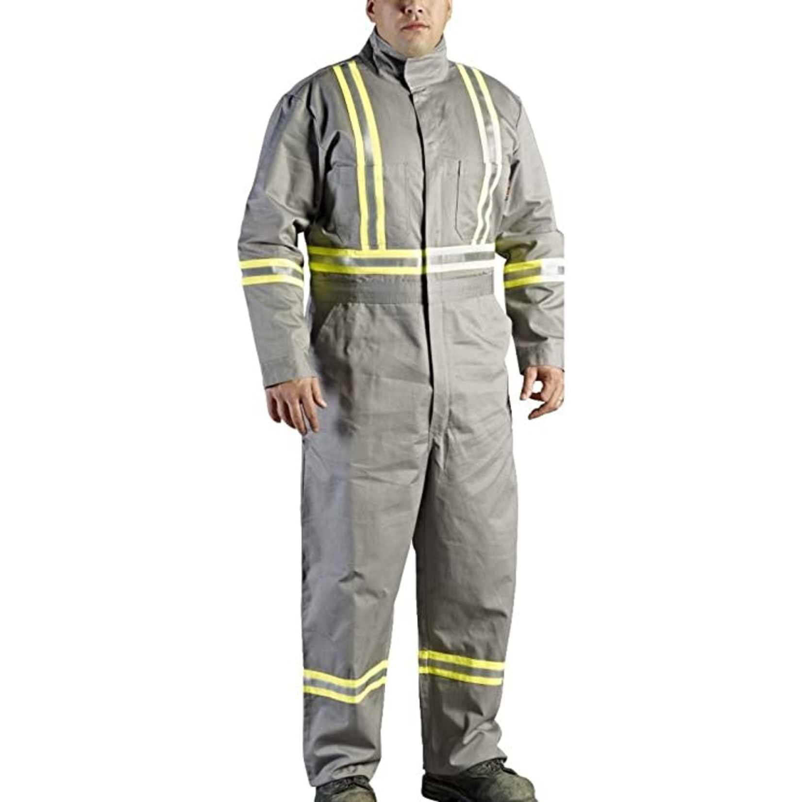 Walls FR Walls Grey 9-Ounce FR 88/12 Striped Coverall