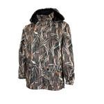Buckshot Camouflage Jacket Unisex Polyester Polar Fleece Sealed  Seams Detachable Hood Camouflage Wildfowl  88-3000-1