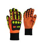 10/4 Job 10/4 JOB Hi Vis Orange Impact Resistant PVC Grip Dots Gloves 24-809