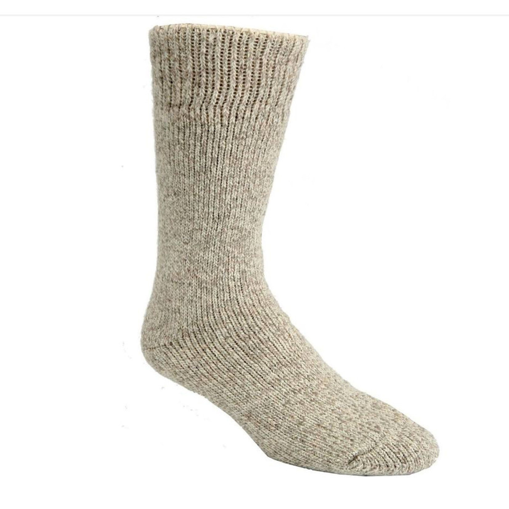 """J.B.Fields Icelandic """"40 Below"""" Pre-Shrunk Wool Sock Beige 8513"""